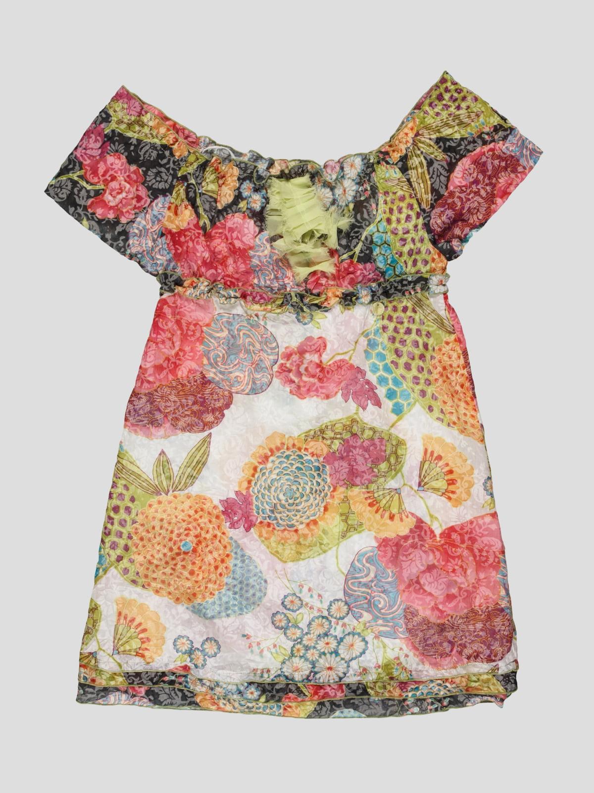 Платье в цветочный принт | 4417611
