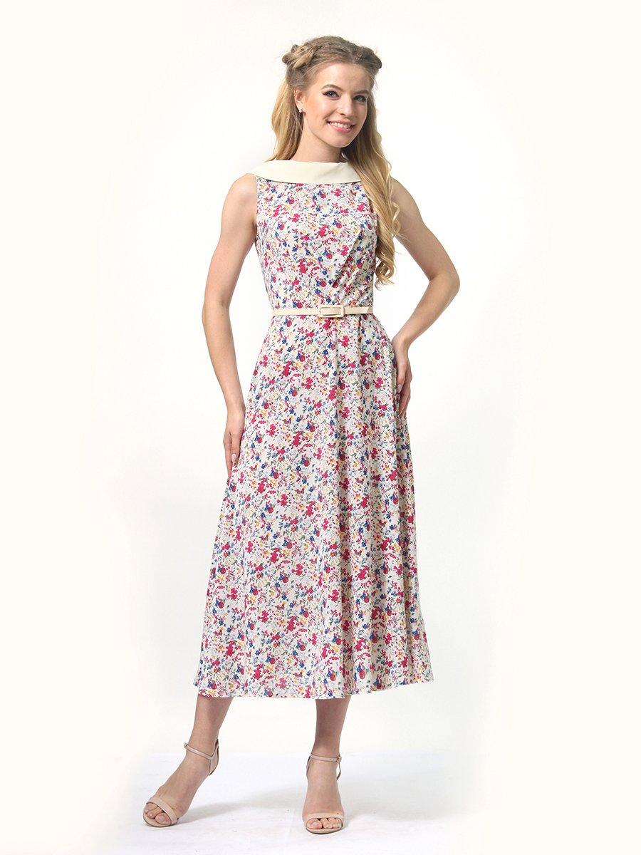 Сукня молочна в квітковий принт | 4426416