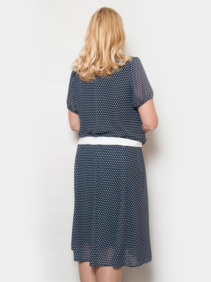 Платье темно-синее в горох | 4424851 | фото 2