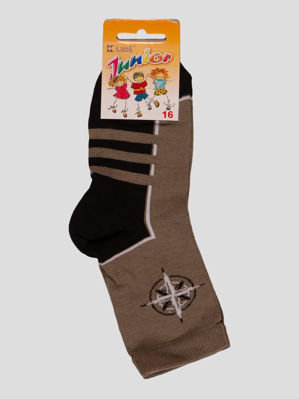 Шкарпетки кольору хакі | 3630693