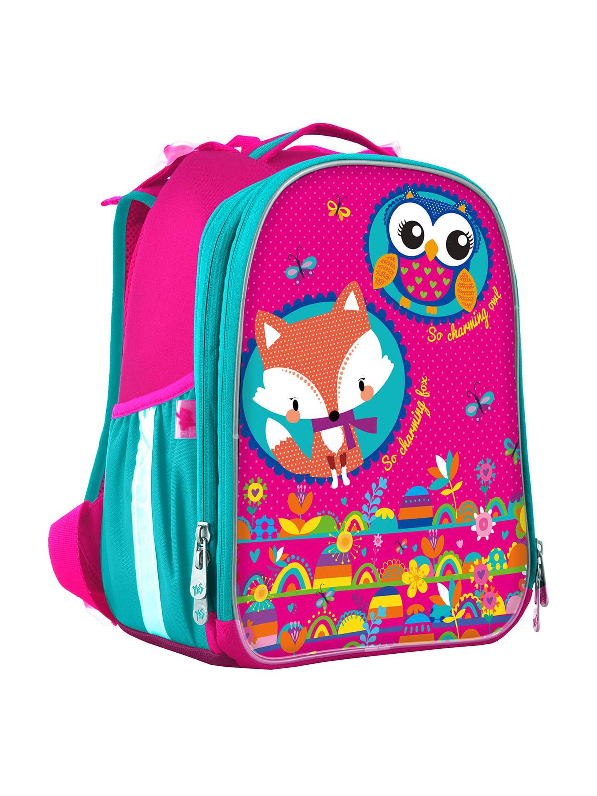Рюкзак рожевий з принтом   4440422