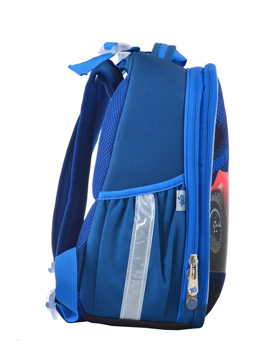 Рюкзак синій з принтом | 4440426 | фото 2