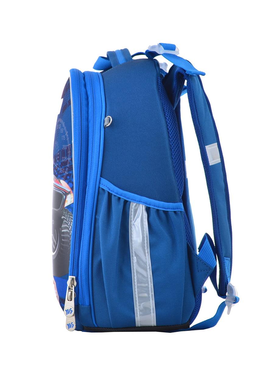 Рюкзак синій з принтом | 4440426 | фото 3