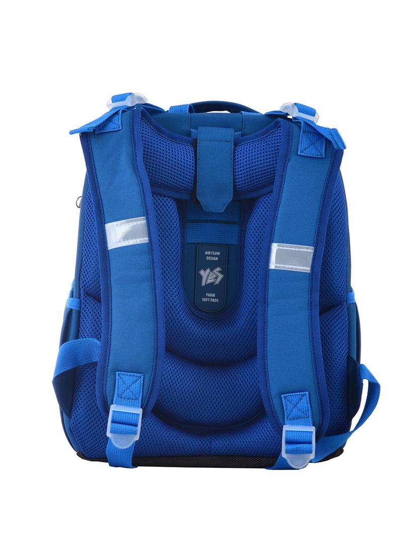 Рюкзак синій з принтом | 4440426 | фото 4