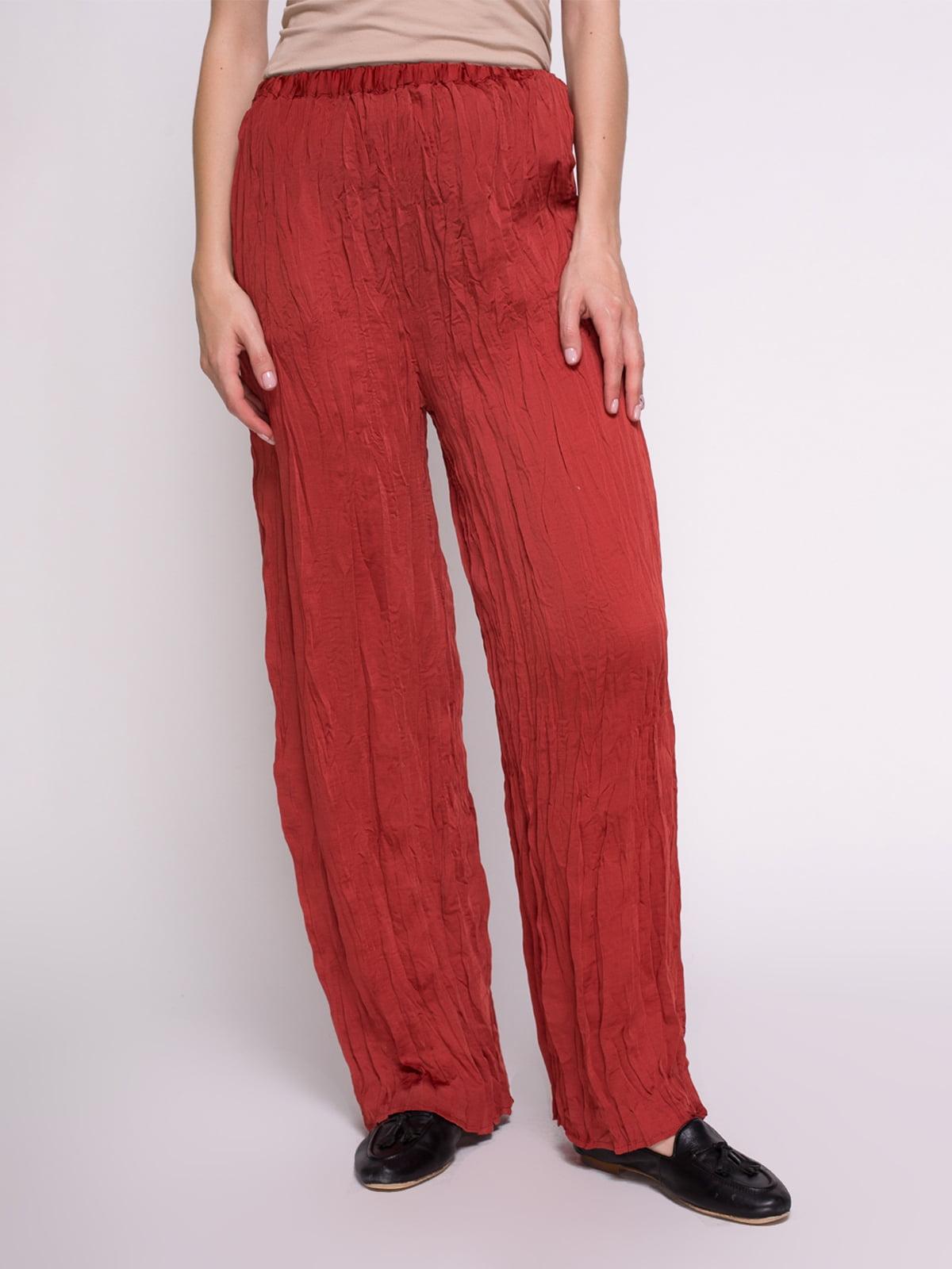 Штани червоні | 1706401 | фото 2