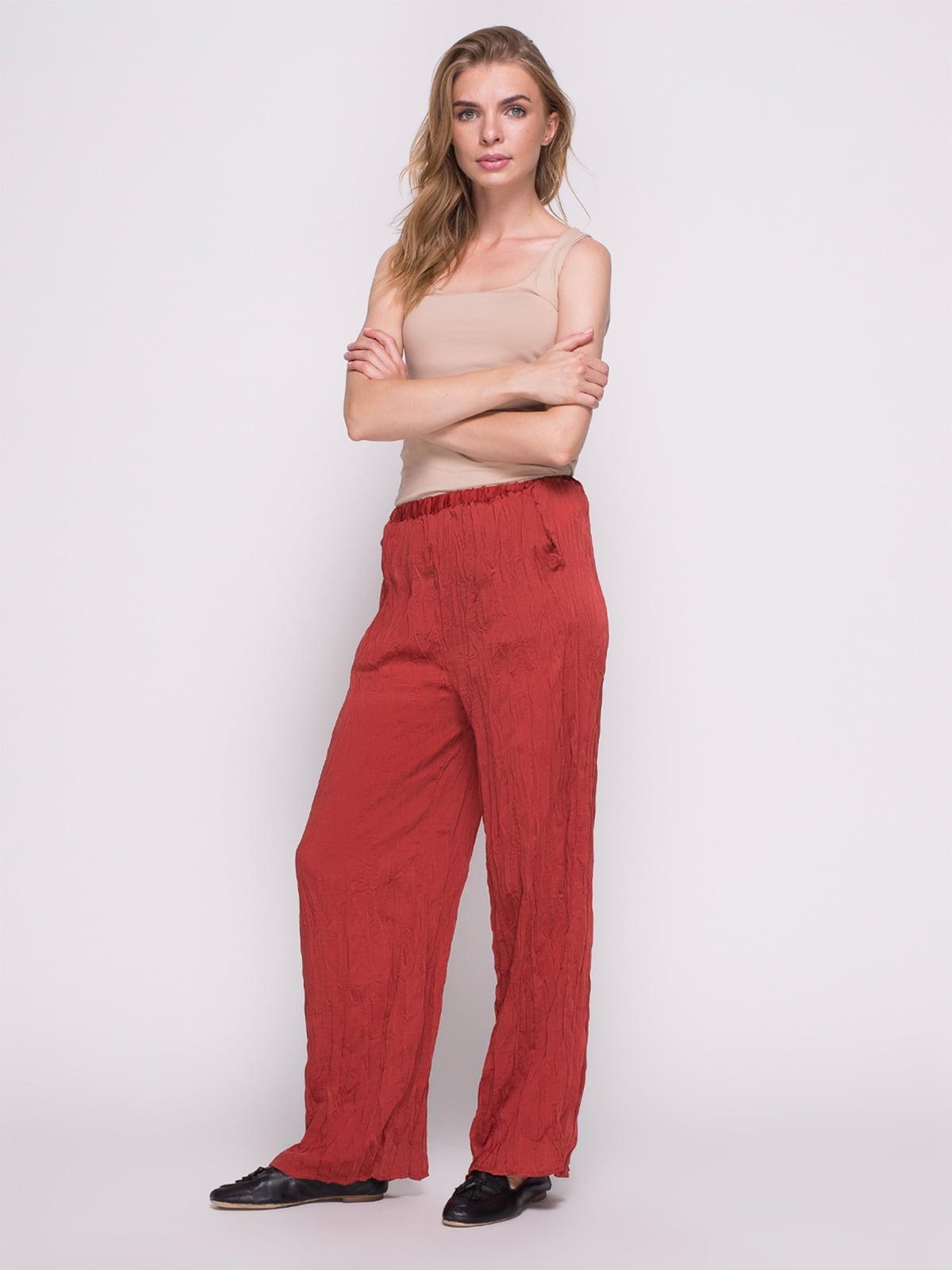 Штани червоні | 1706401 | фото 4