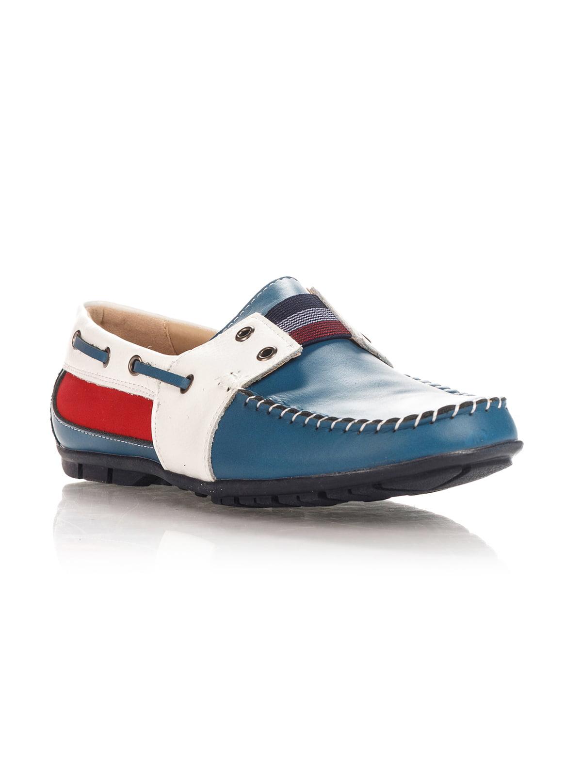 Мокасини синьо-білі   4408602