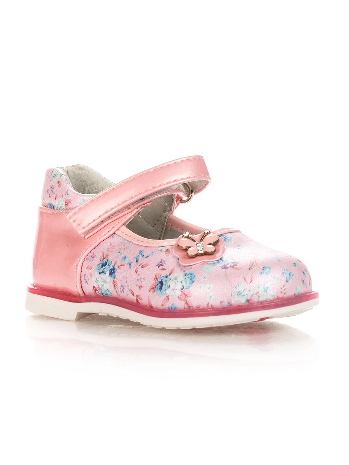 Туфли розовые с цветочным принтом | 4407903