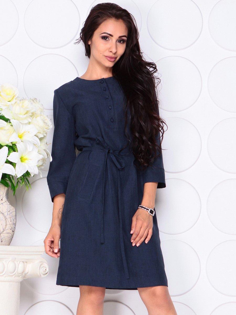 Платье темно-синее   4444577