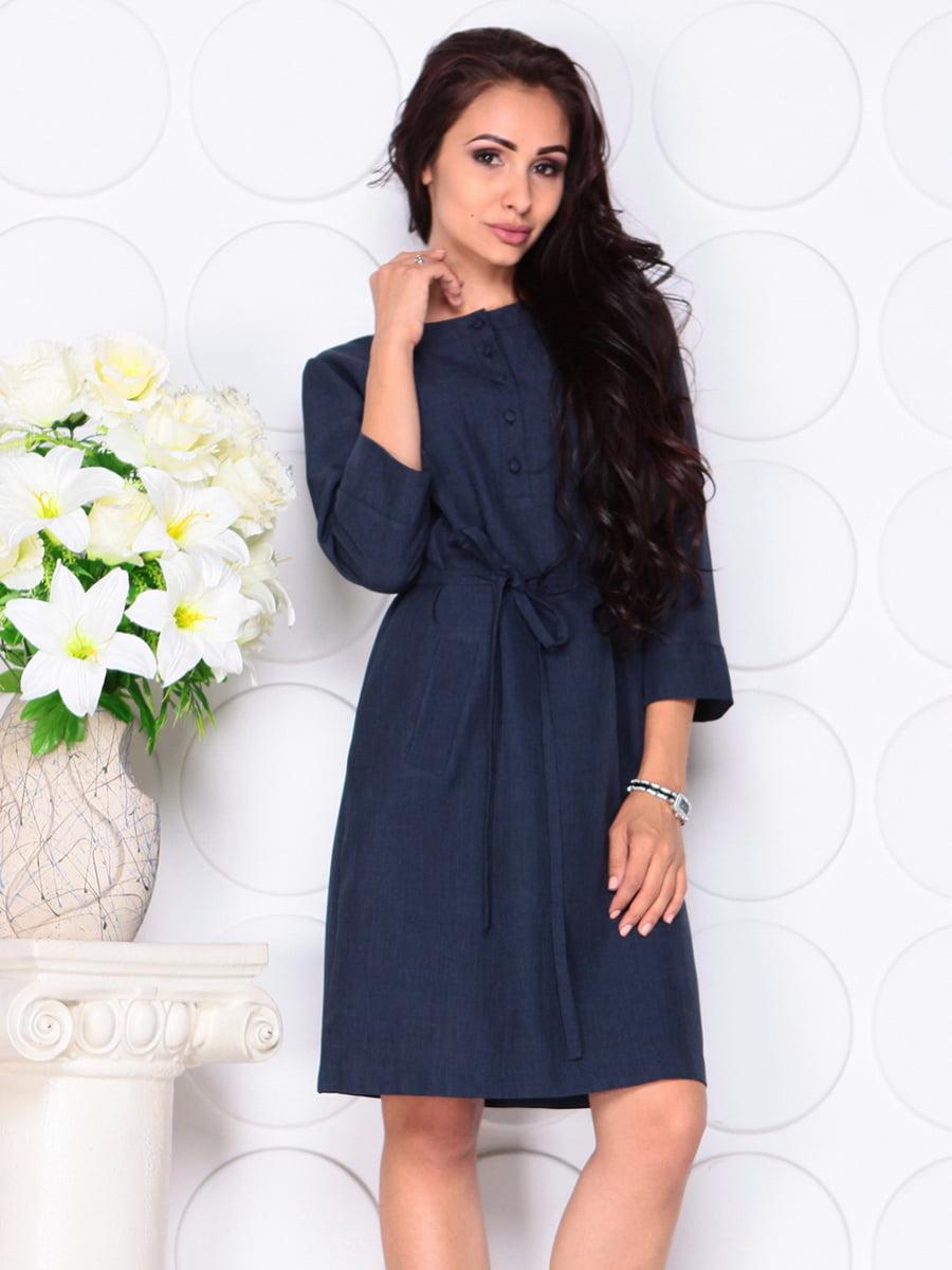 Платье темно-синее   4444577   фото 3