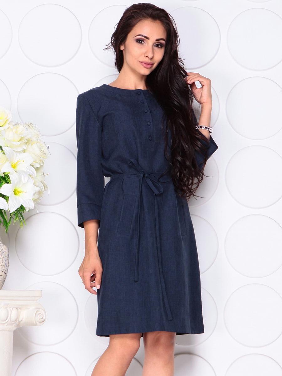 Платье темно-синее   4444577   фото 4