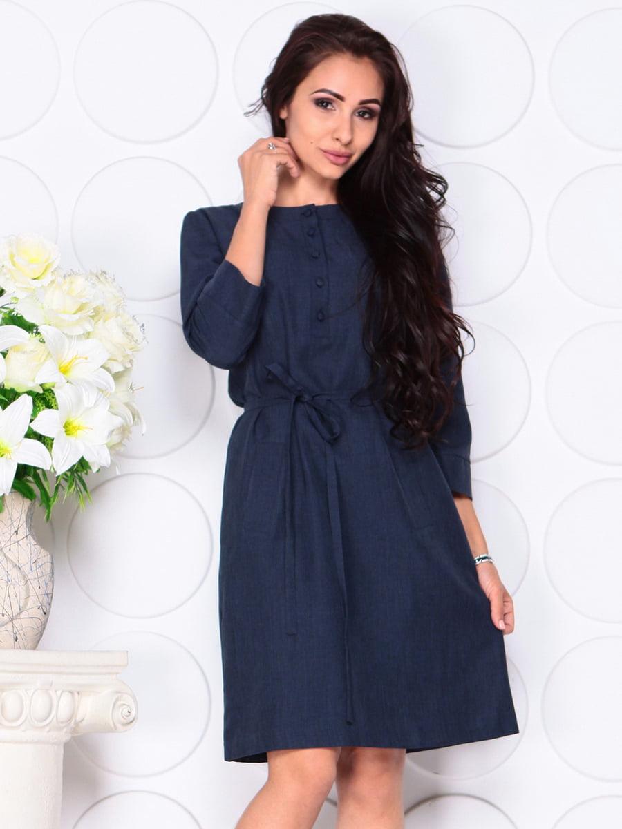 Платье темно-синее   4444577   фото 5