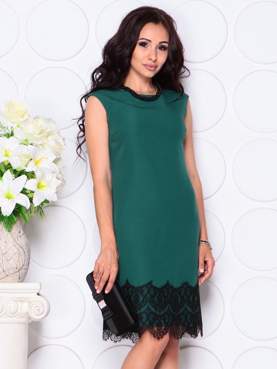 Платье темно-изумрудное   4444586
