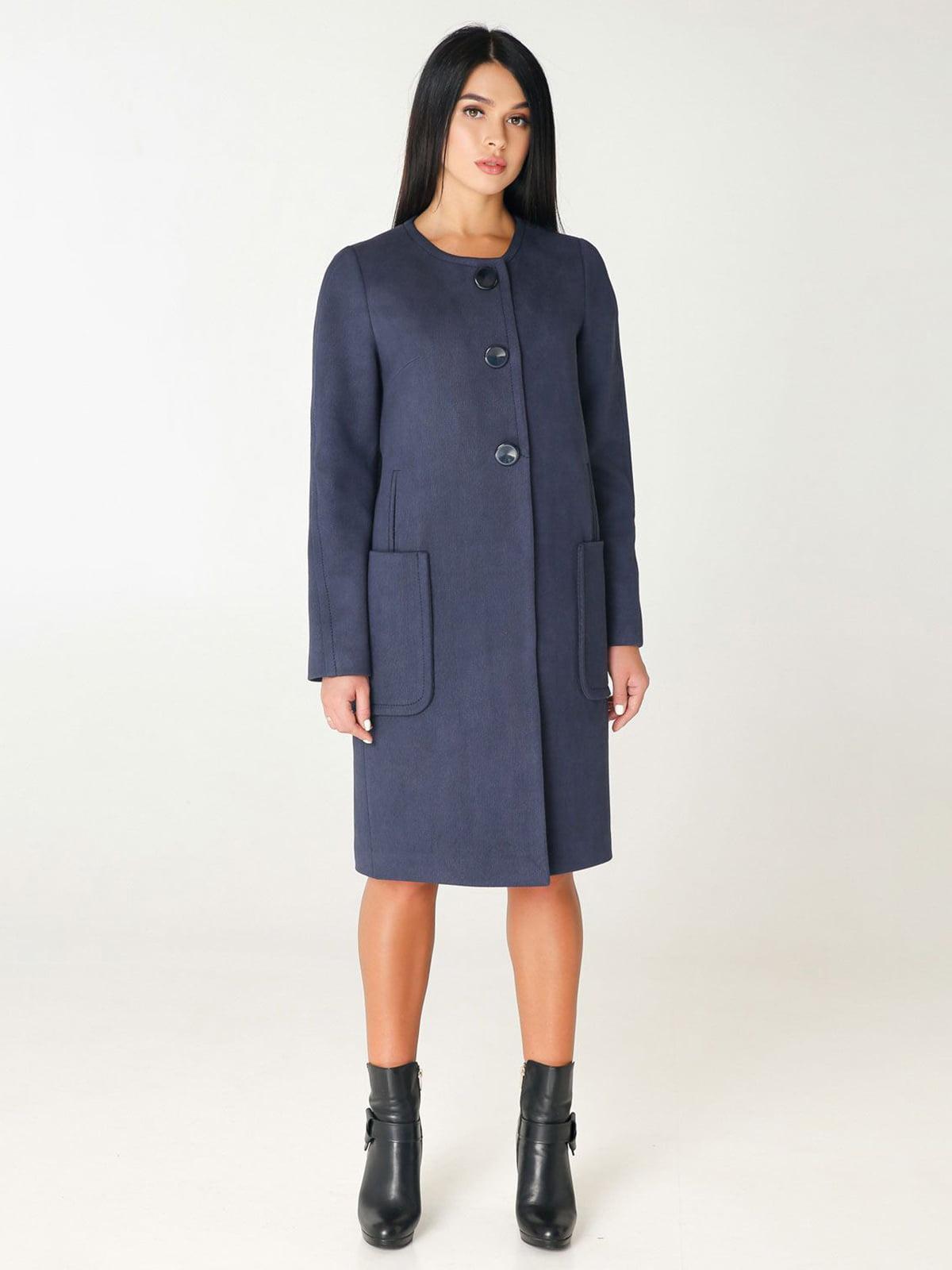 Пальто темно-синее | 4450206