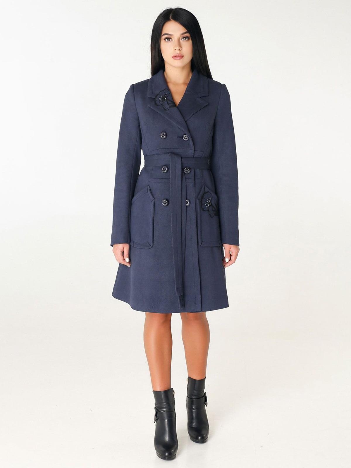Пальто темно-синее | 4450228
