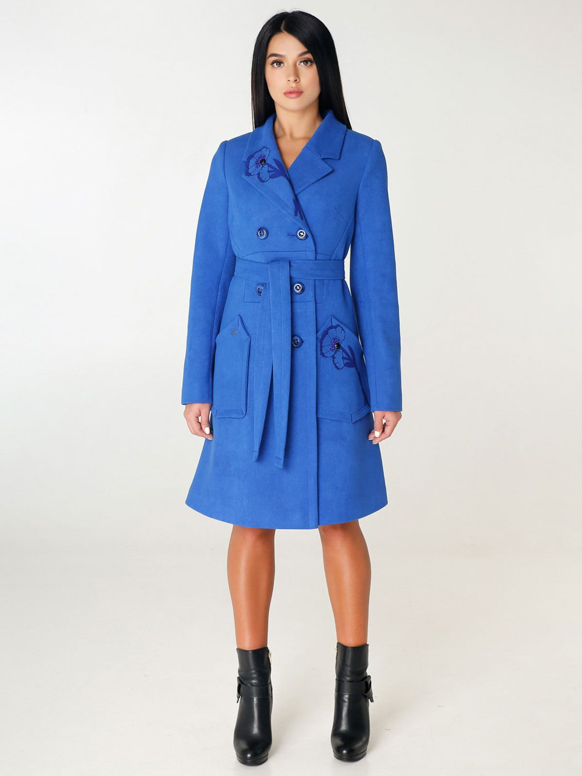 Пальто цвета электрик | 4450230