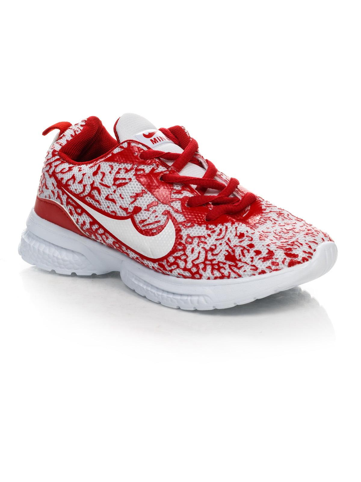Кросівки біло-червоні | 4412555