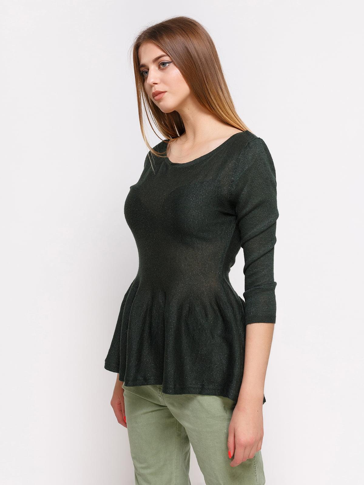 Блуза темно-зеленая | 3599625