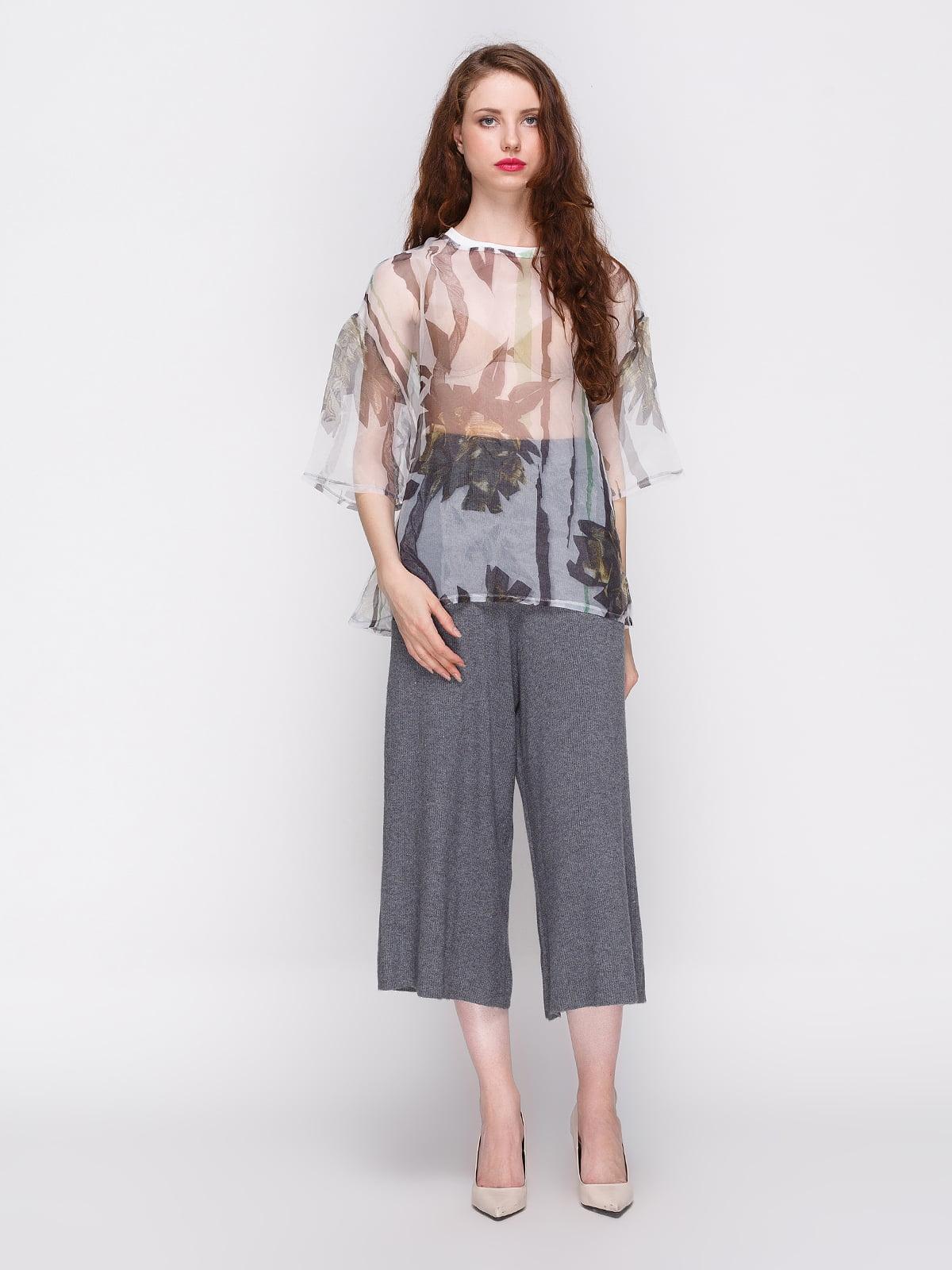 d16d179fa9d Блуза в абстрактный принт — Zara