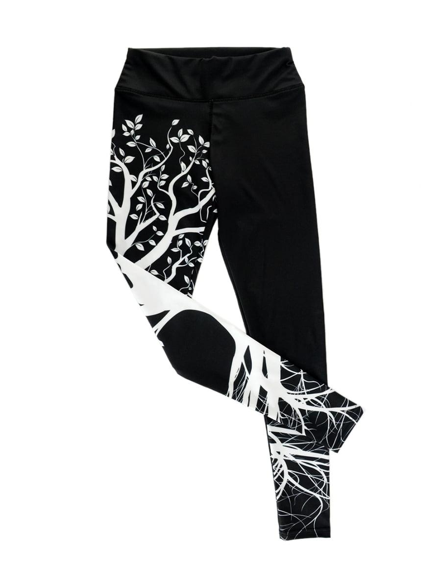 Леггинсы для фитнеса черные с принтом | 4418638 | фото 3