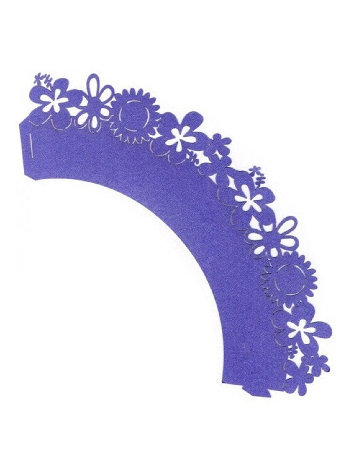 Накладка паперова декоративна ажурна для мафінів (20 шт.)   4458410