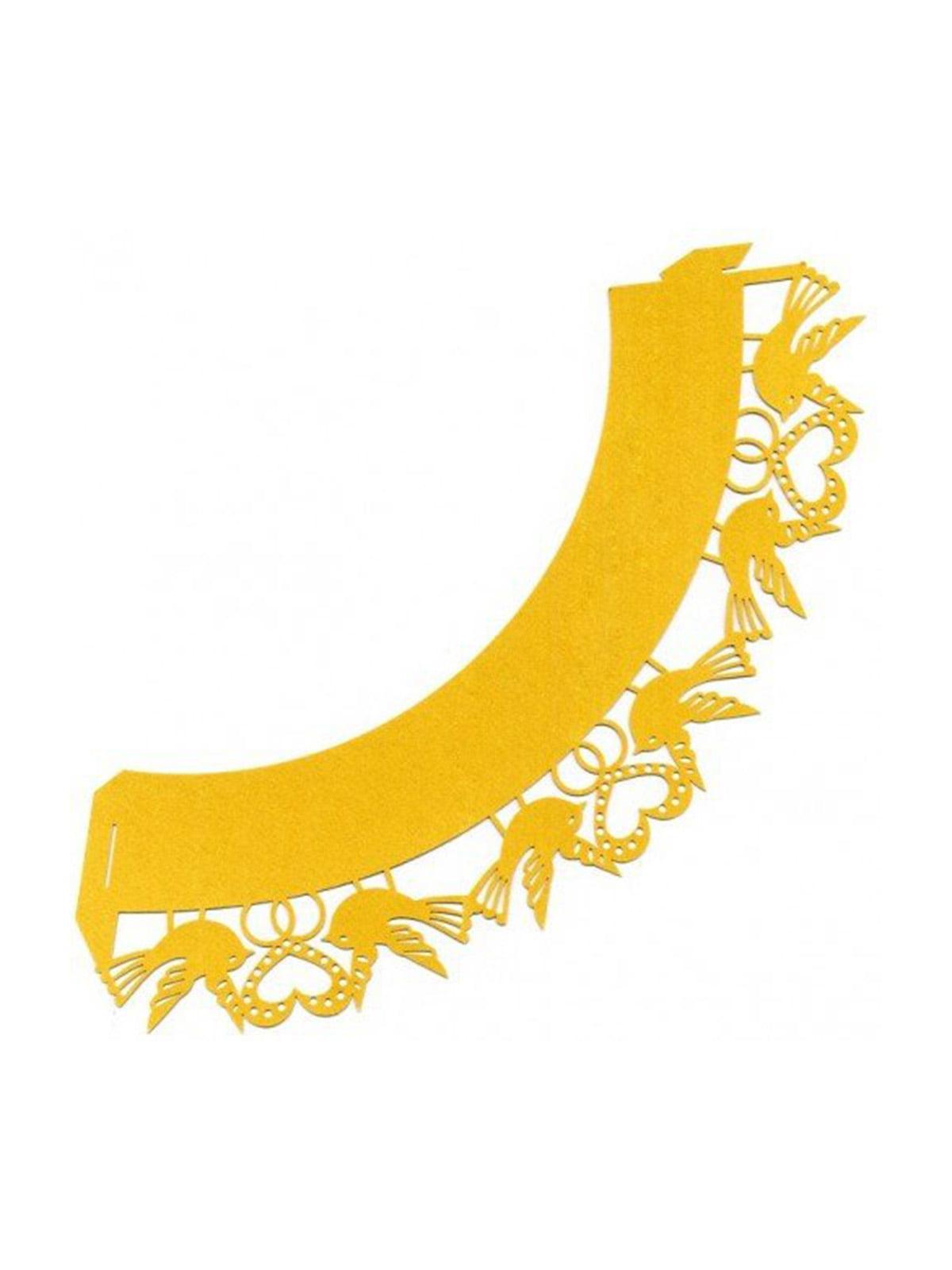 Накладка бумажная декоративная ажурная для маффинов (20 шт.) | 4458429