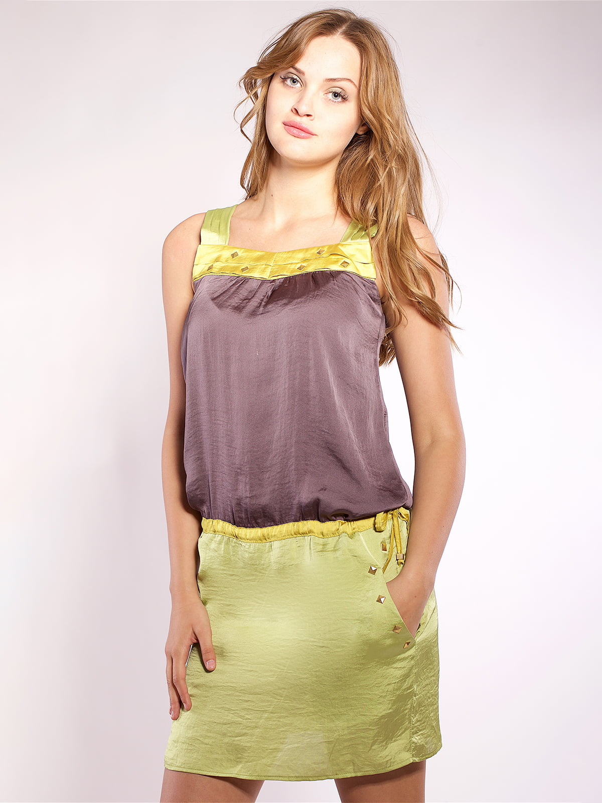 Платье двухцветное | 4202670
