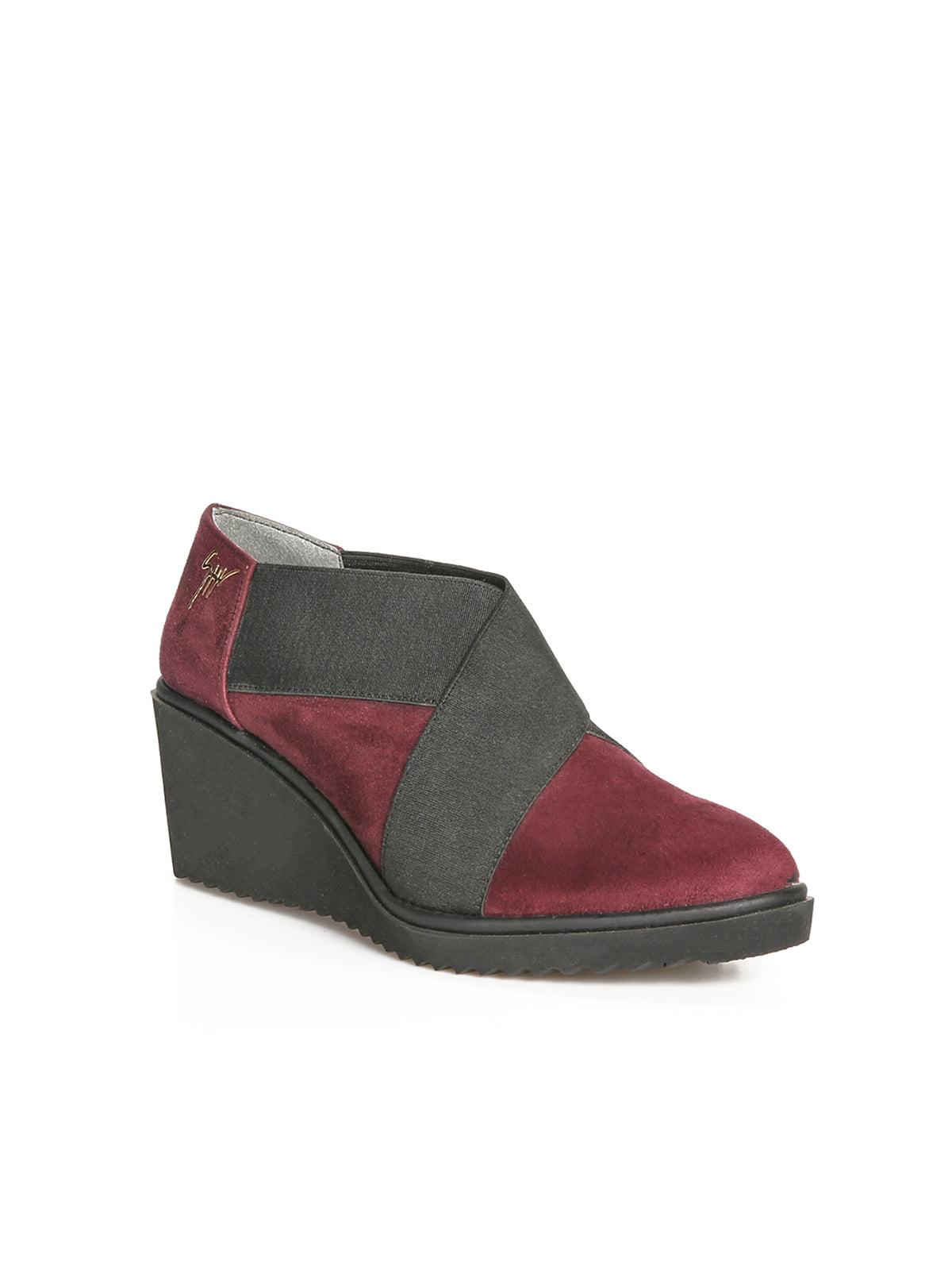 Ботинки бордовые   4462056