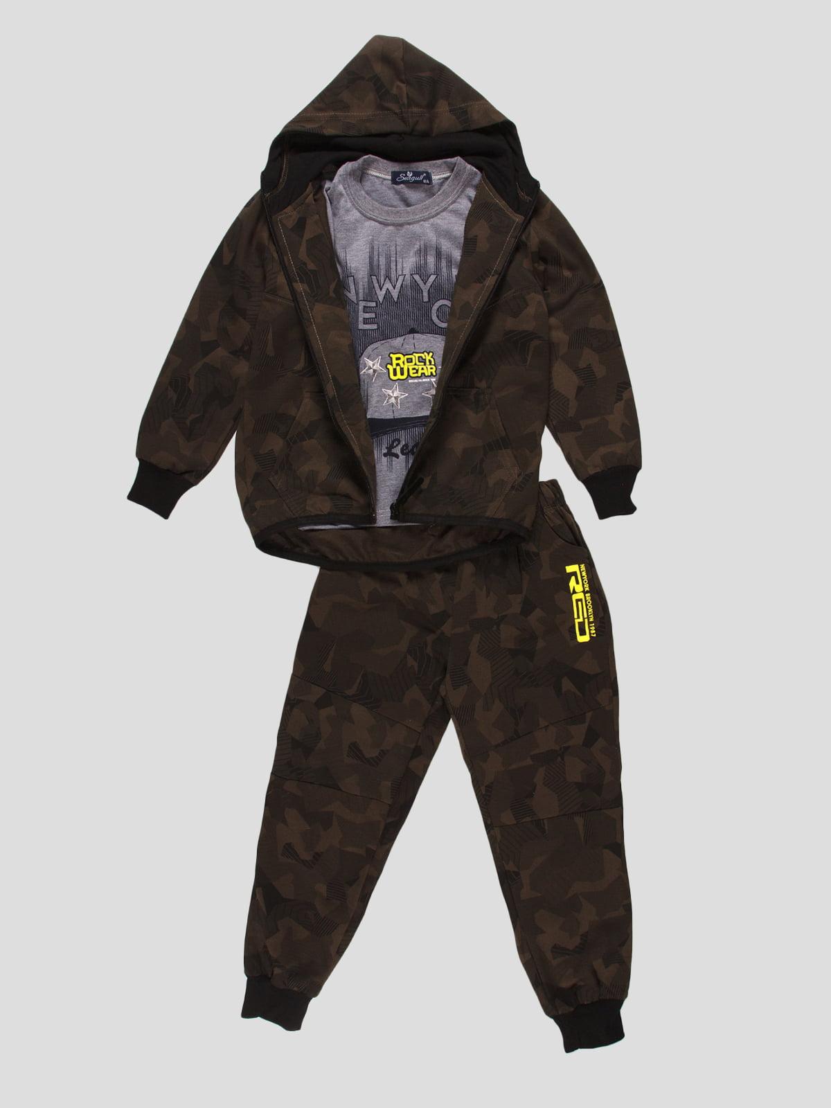 Костюм спортивний: футболка, толстовка та штани   4457471