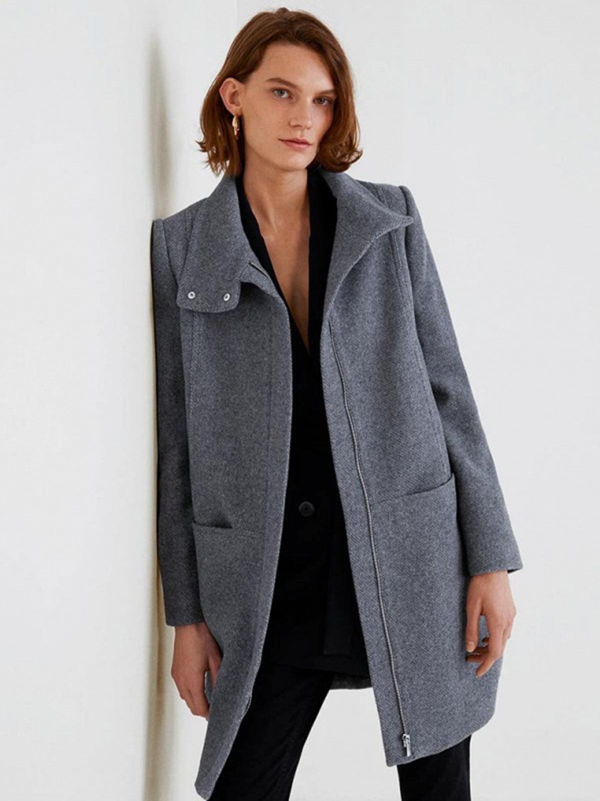 Пальто серое | 4440584 | фото 3