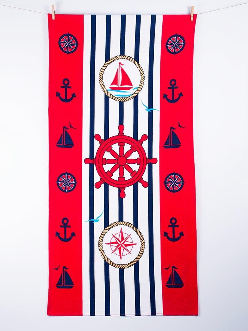 Полотенце пляжное велюровое (75х150 см) | 4209613