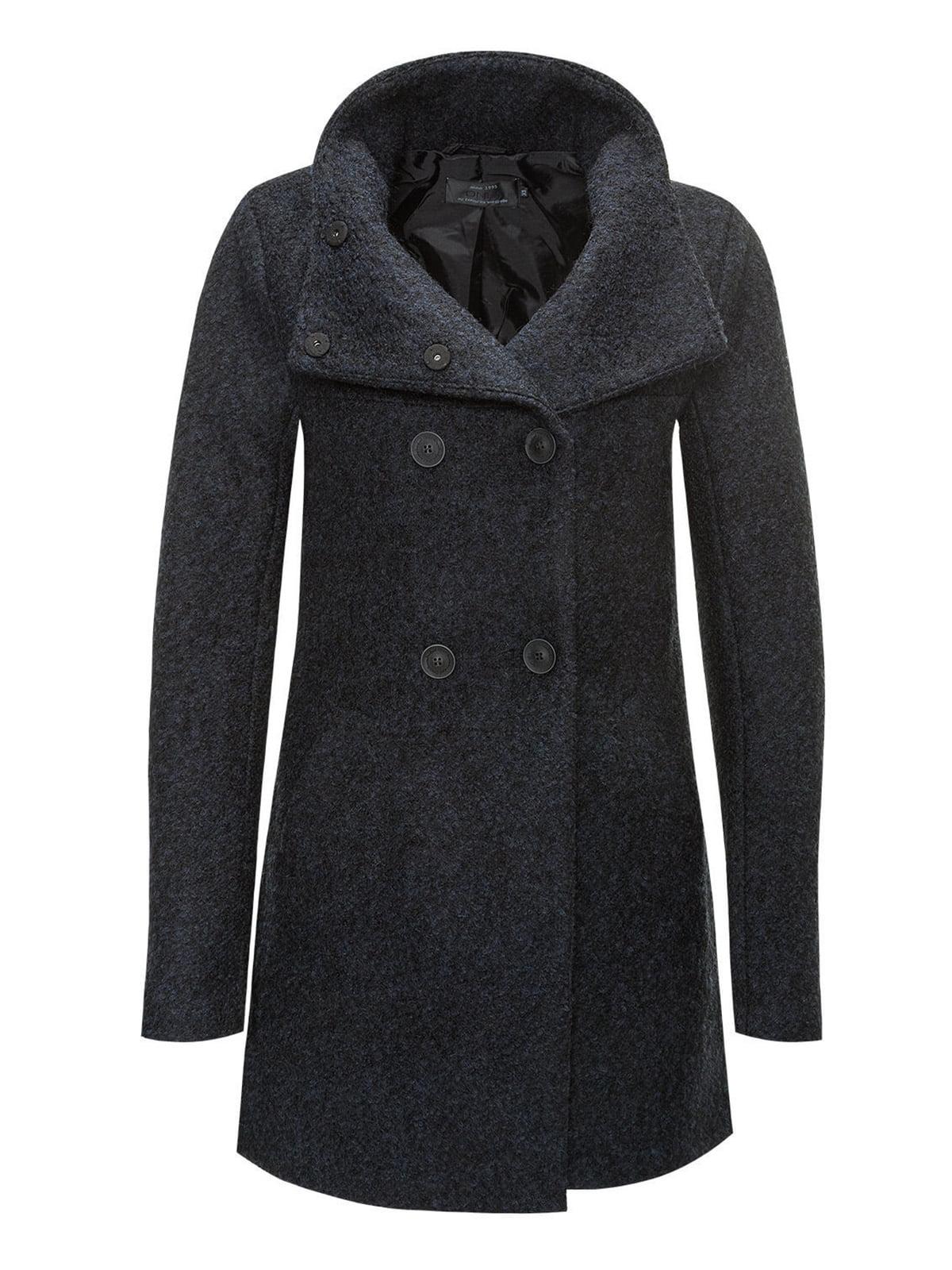Пальто темно-синее | 2827817 | фото 4