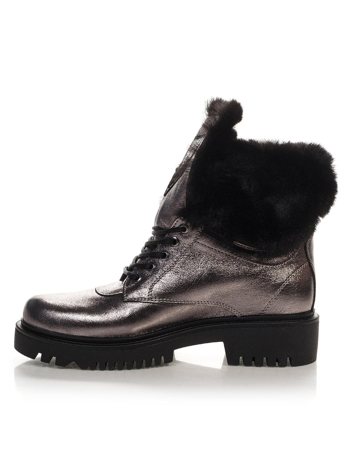 Ботинки серебристого цвета | 4421119 | фото 2