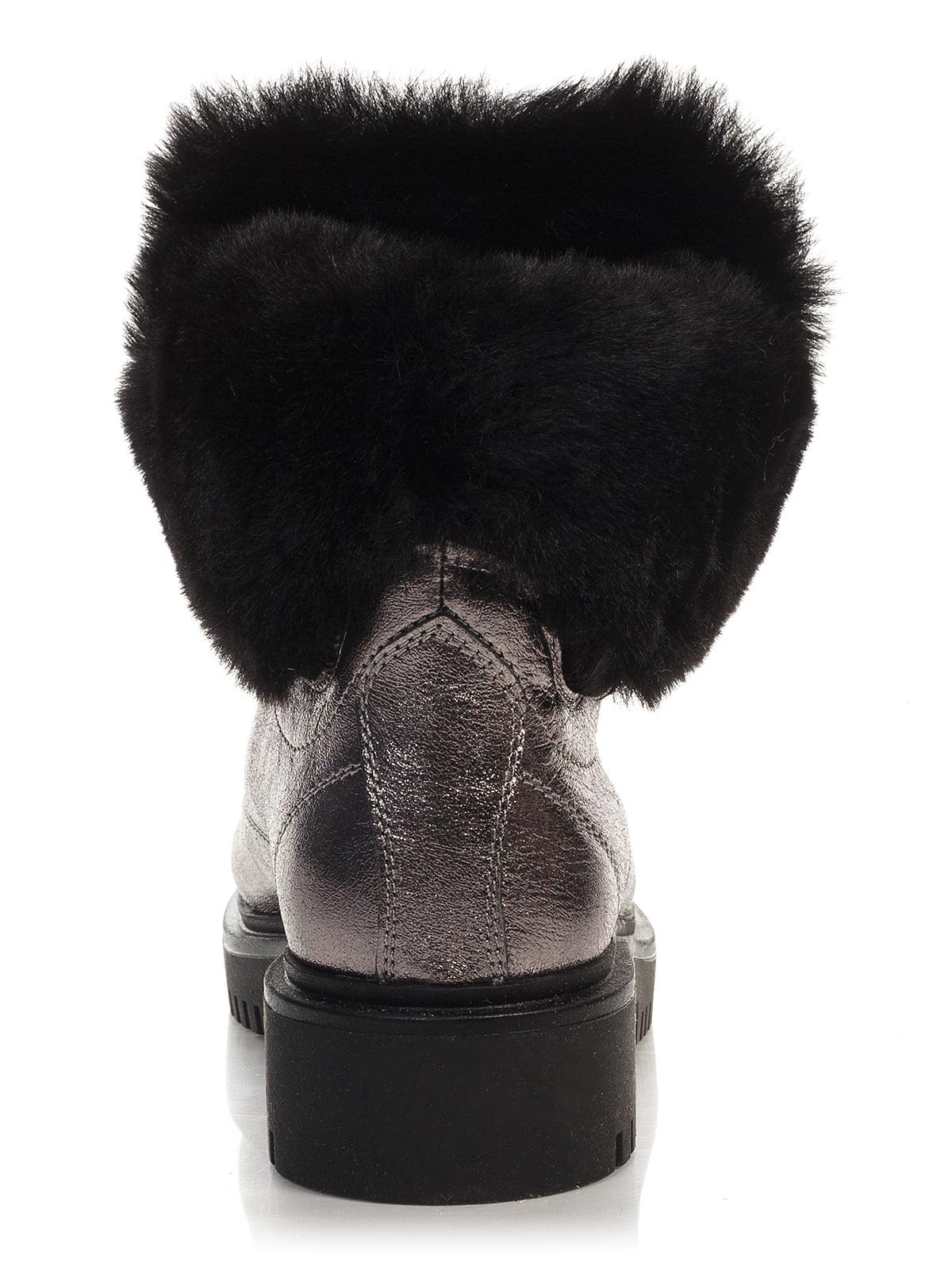 Ботинки серебристого цвета | 4421119 | фото 3