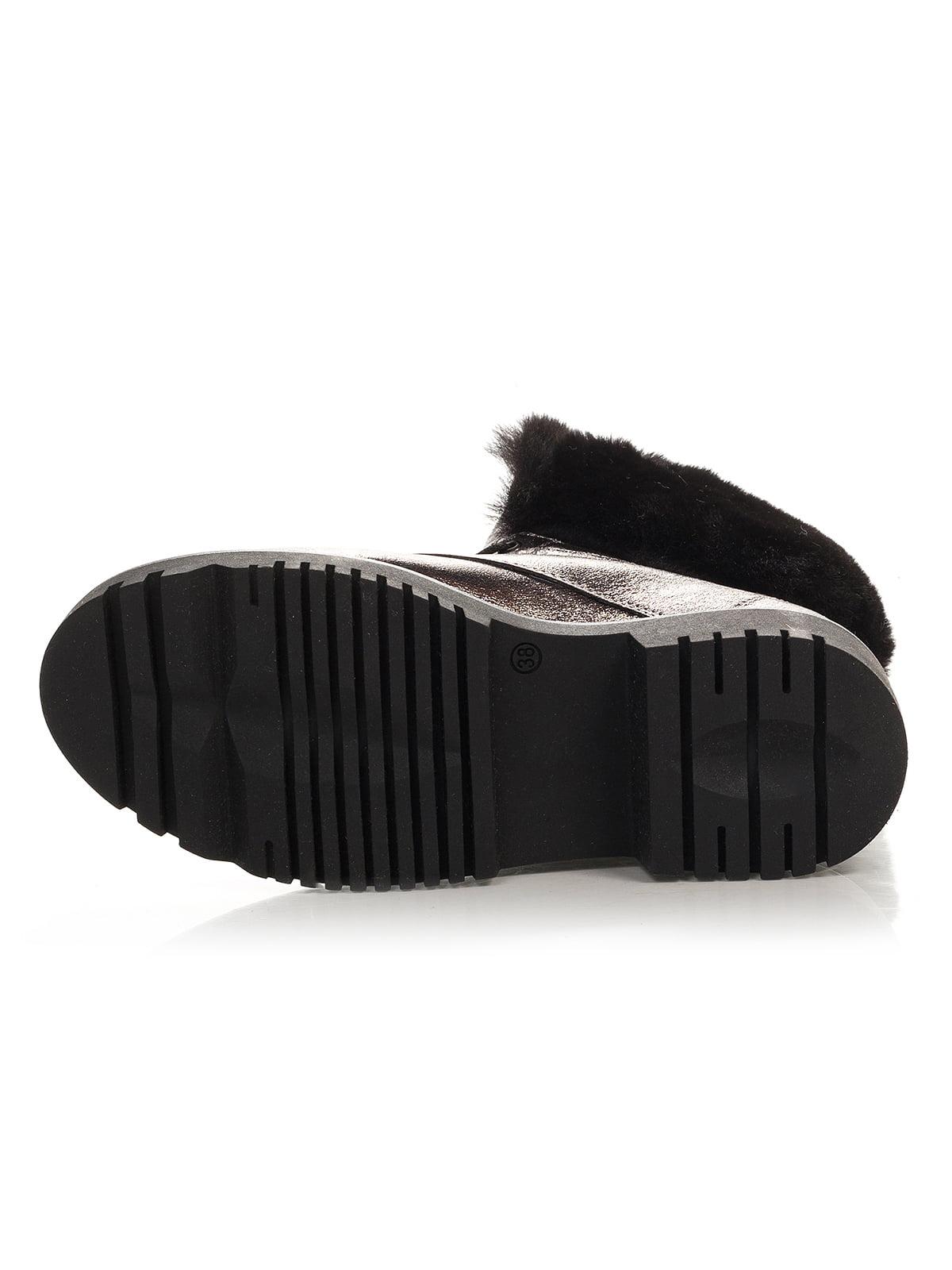 Ботинки серебристого цвета | 4421119 | фото 4