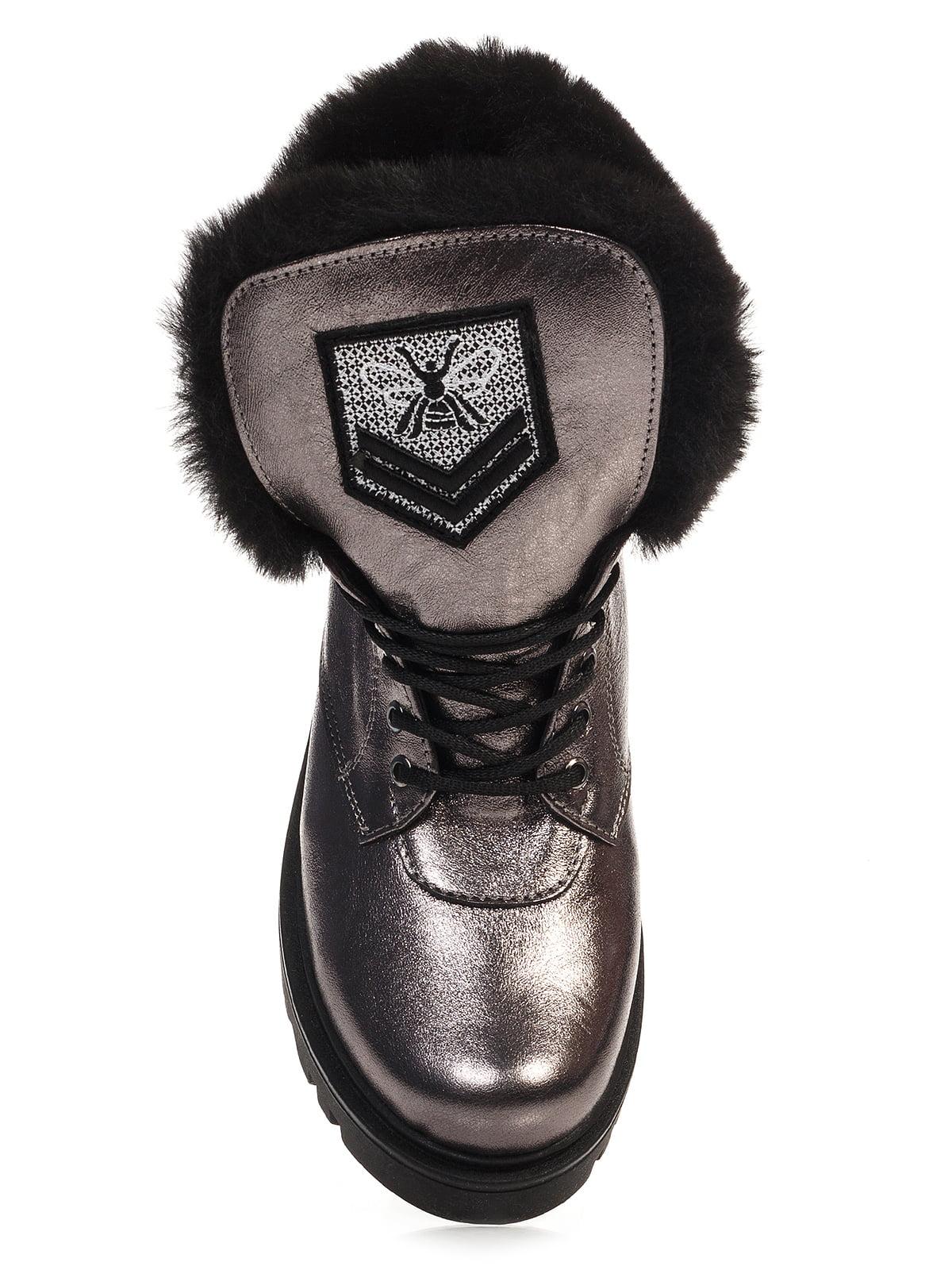 Ботинки серебристого цвета | 4421119 | фото 5