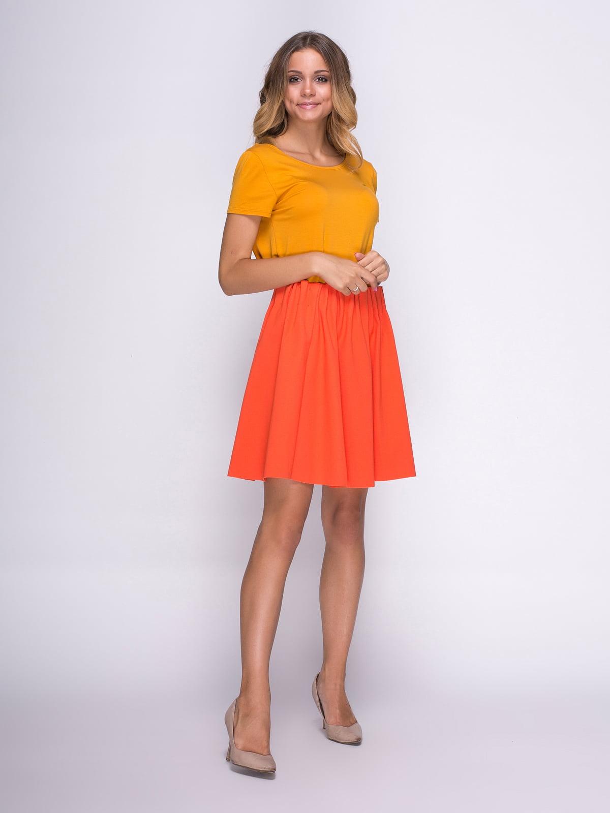 Юбка оранжевая | 3791706 | фото 2