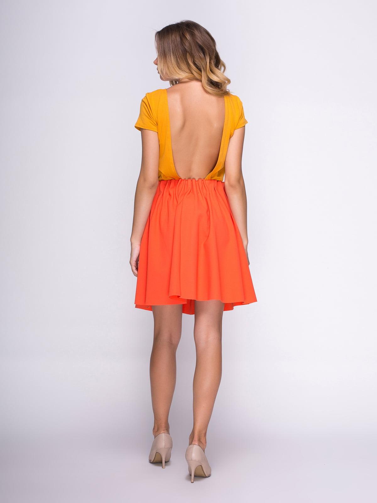Юбка оранжевая | 3791706 | фото 3