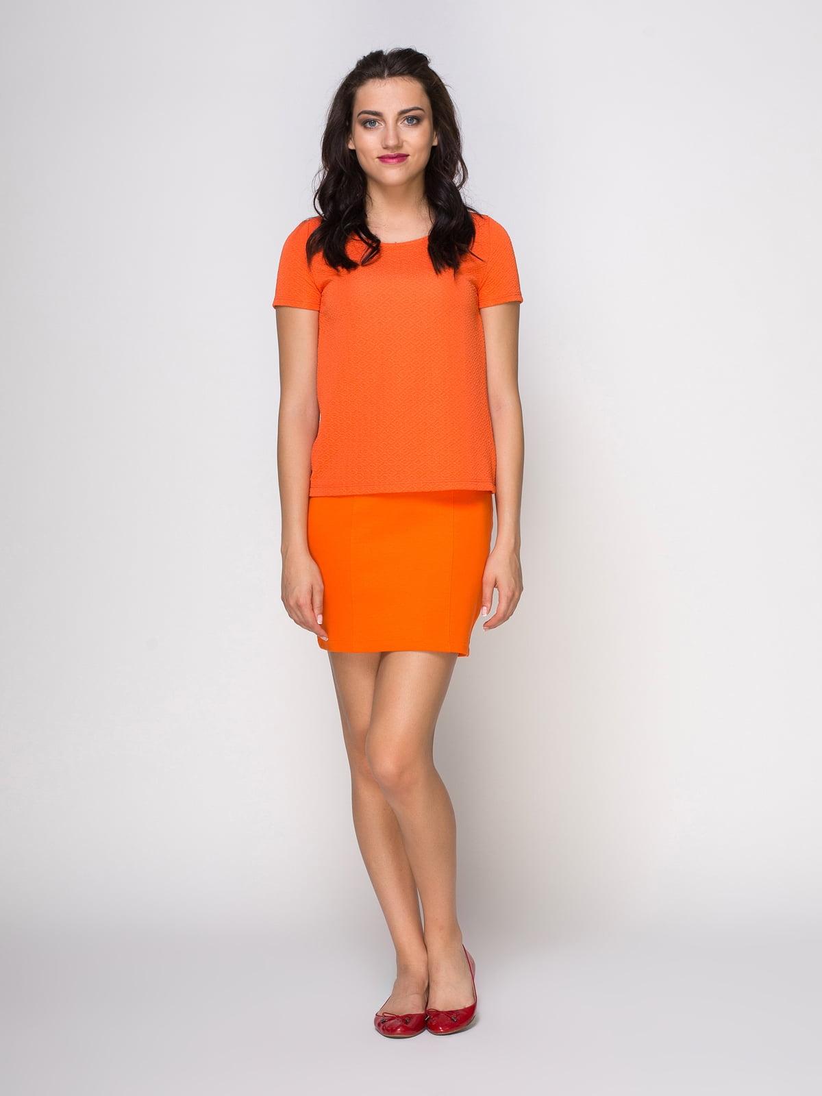 Юбка оранжевая | 3780304 | фото 2