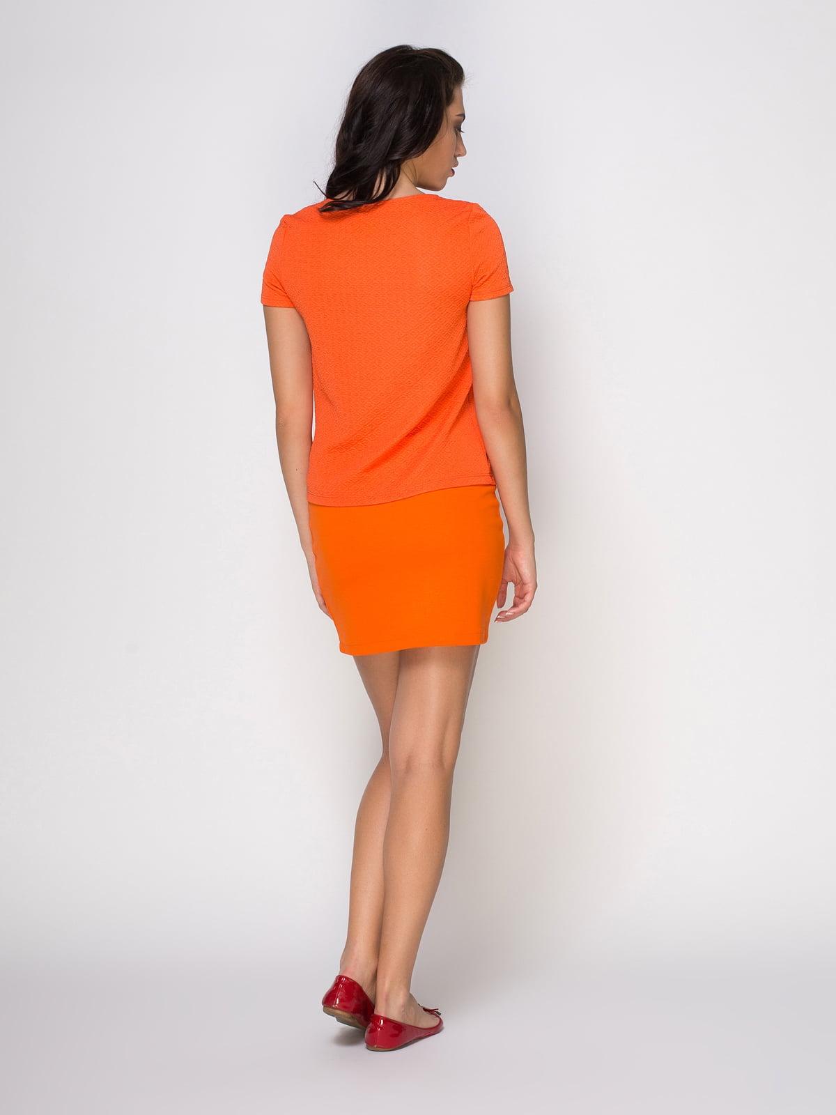 Юбка оранжевая | 3780304 | фото 3