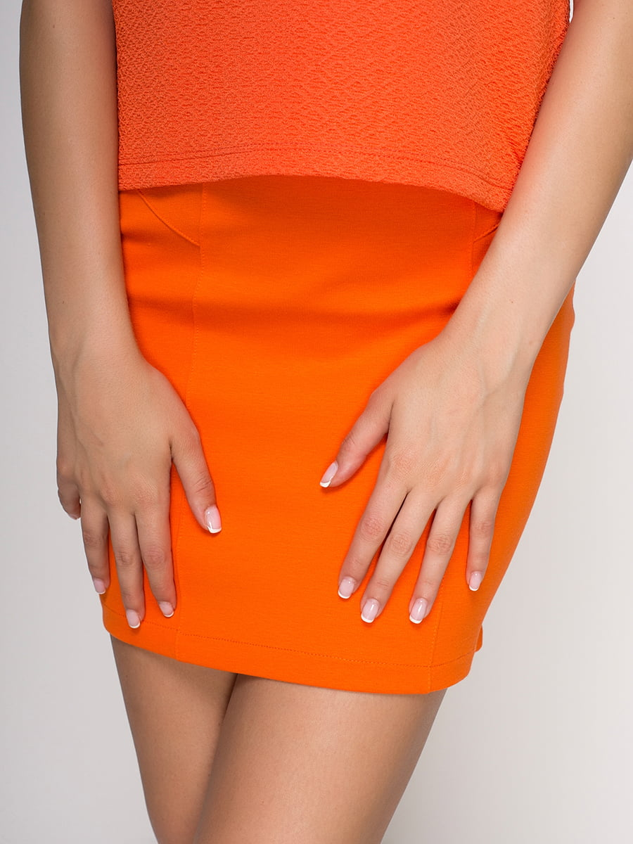 Юбка оранжевая | 3780304 | фото 4