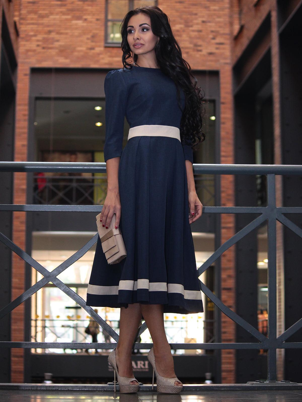 Платье темно-синее | 3679122