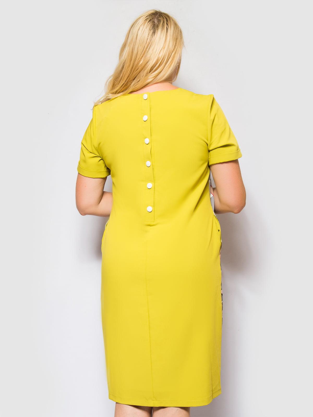 Платье оливково-серое в полоску и принт | 4469192 | фото 4
