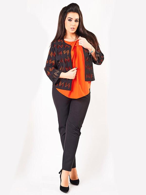 Костюм: блуза, жакет и брюки | 4488761 | фото 2
