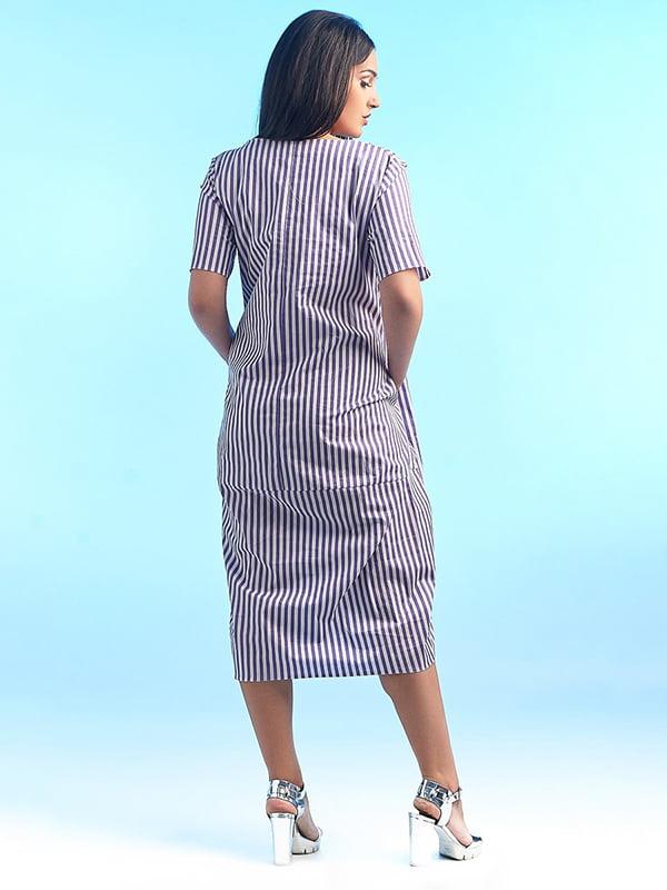 Сукня в смужку з декором | 4488783 | фото 2