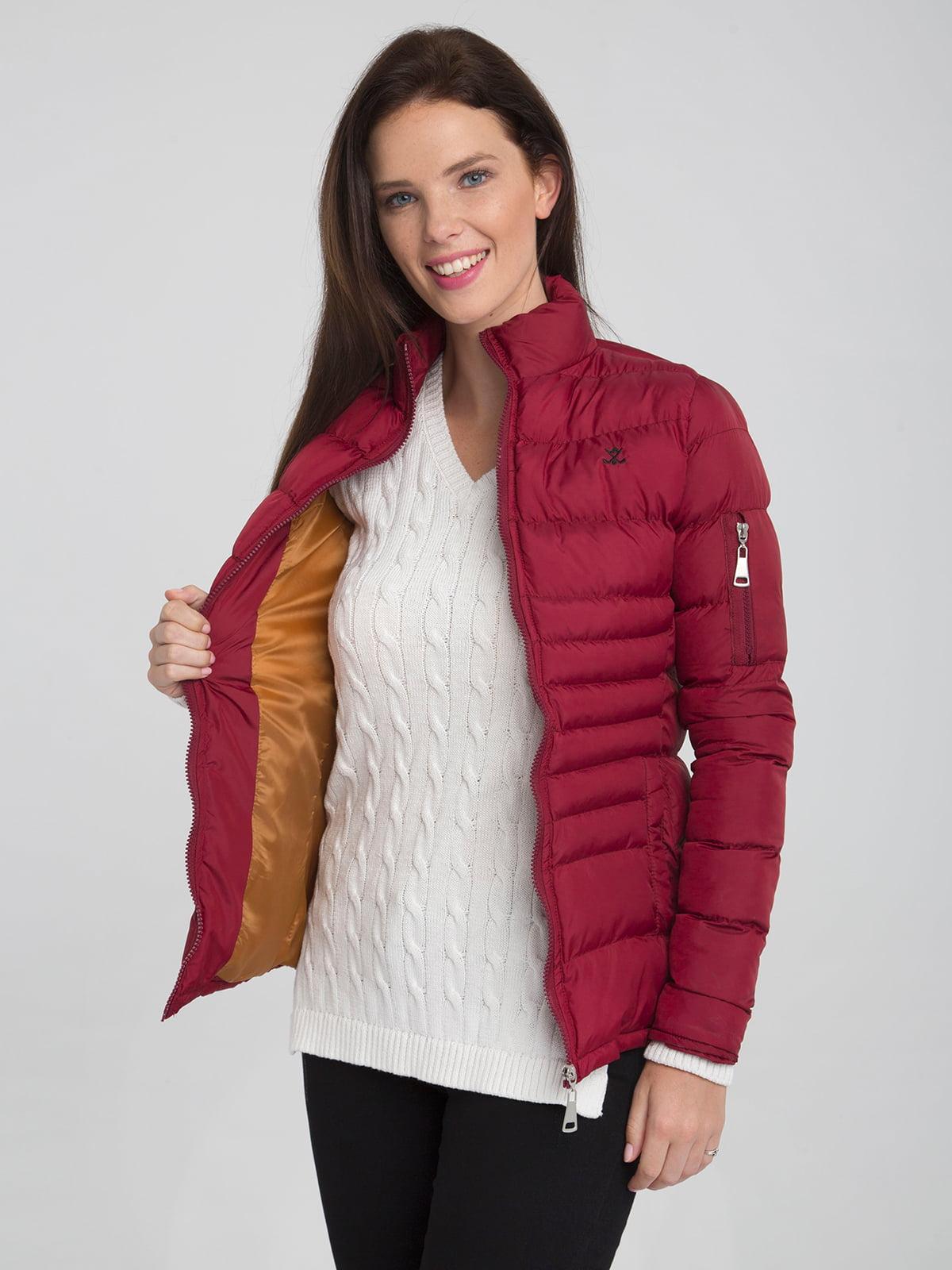 Куртка бордовая | 4488858 | фото 3