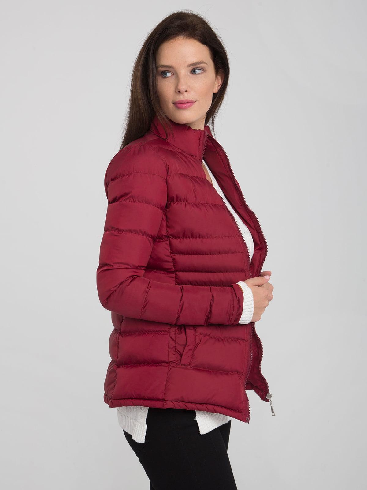 Куртка бордовая | 4488858 | фото 4