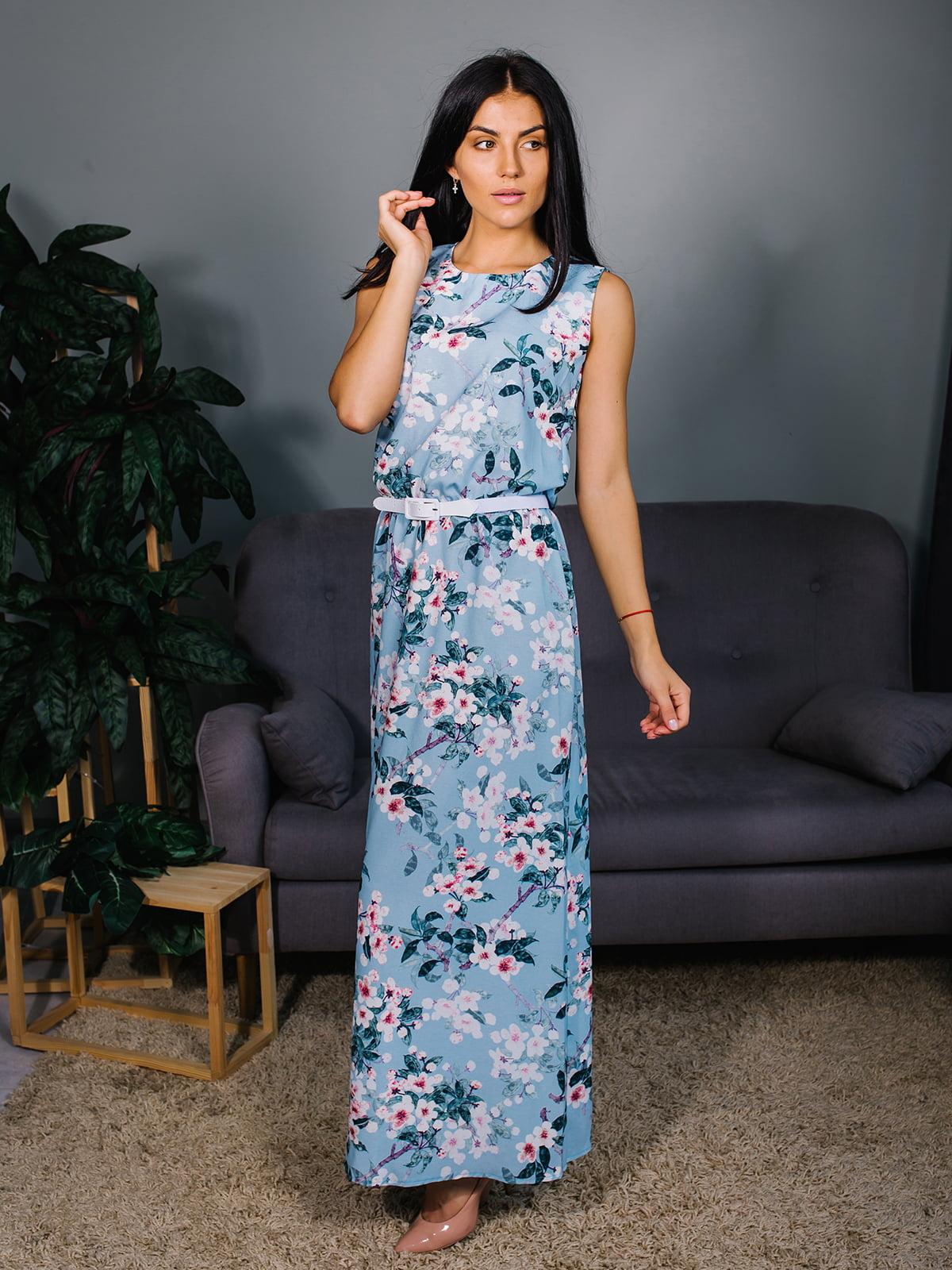 Платье в цветочный принт | 4488113