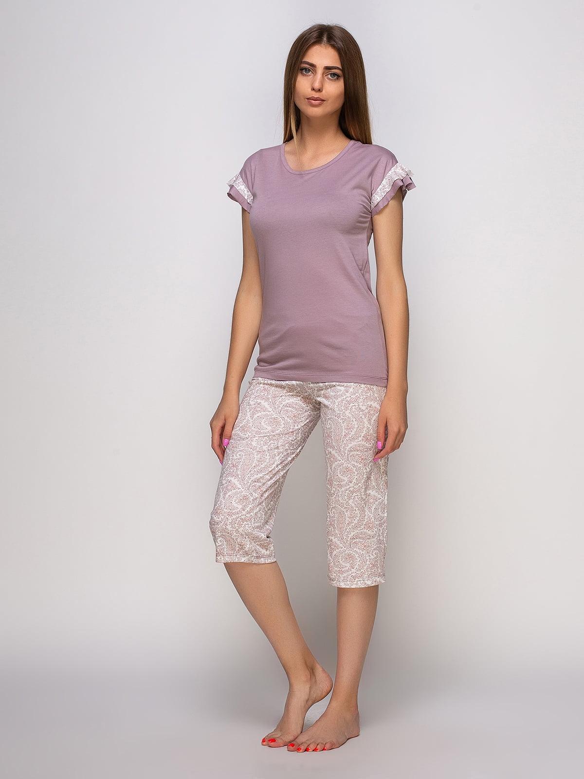 Пижама: футболка и бриджи   4480292