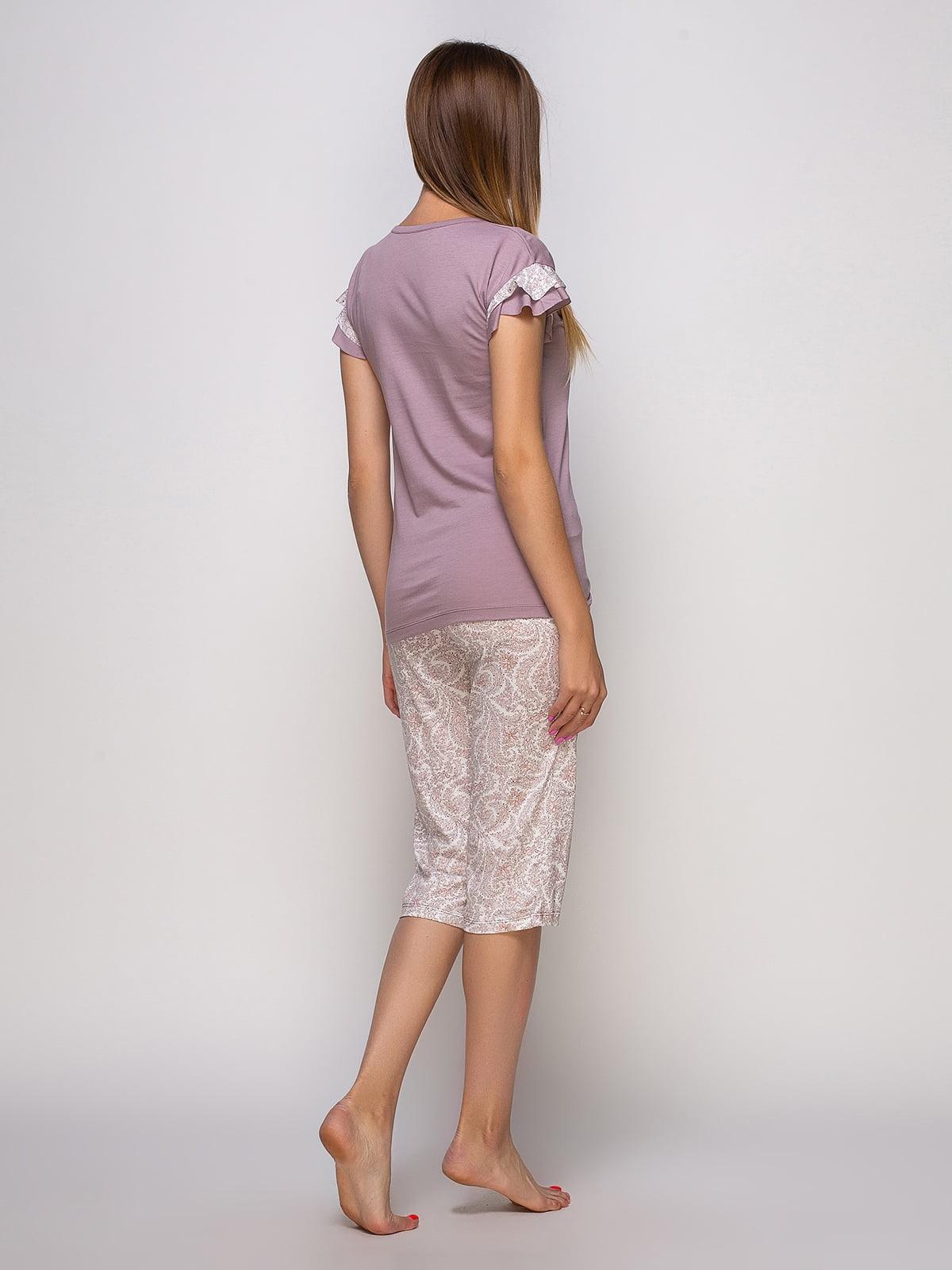 Пижама: футболка и бриджи   4480292   фото 2